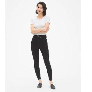 NWT Gap Sky High True Skinny Jeans 26 Black c576
